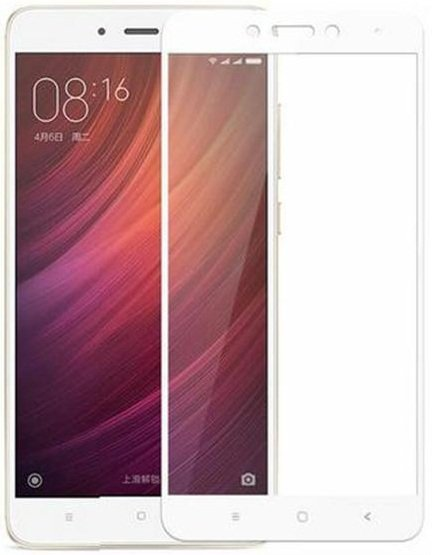Защитное стекло - для Xiaomi Redmi Note 4X Full Screen (White) - фото