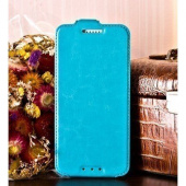 Чехол для Huawei Ascend Y300 (U8833) блокнот Experts Slim Flip Case, голубой - фото